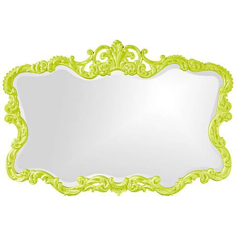 "Howard Elliott Talida 38"" x 27"" Green Wall Mirror"