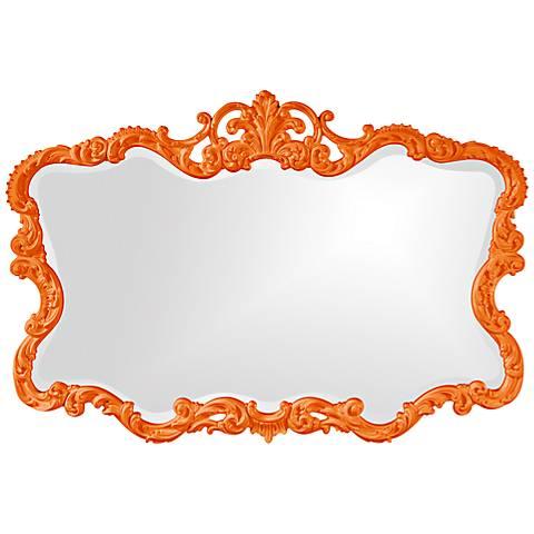 "Howard Elliott Talida 38"" x 27"" Orange Wall Mirror"
