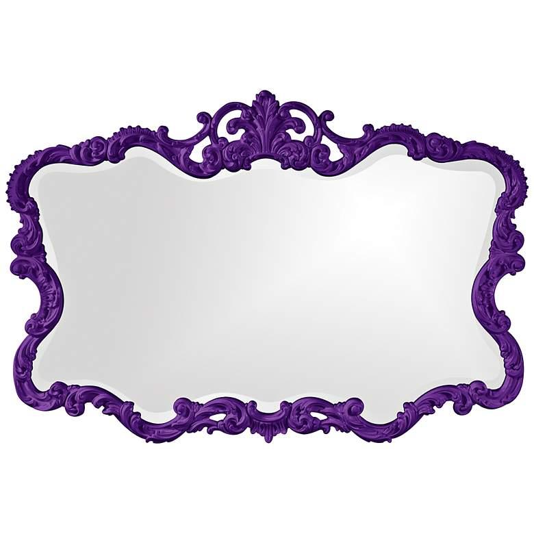 "Howard Elliott Talida 38"" x 27"" Royal Purple Wall Mirror"