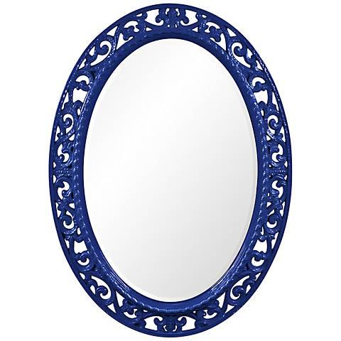 """Howard Elliott Suzanne Royal Blue 27"""" x 37"""" Wall Mirror"""