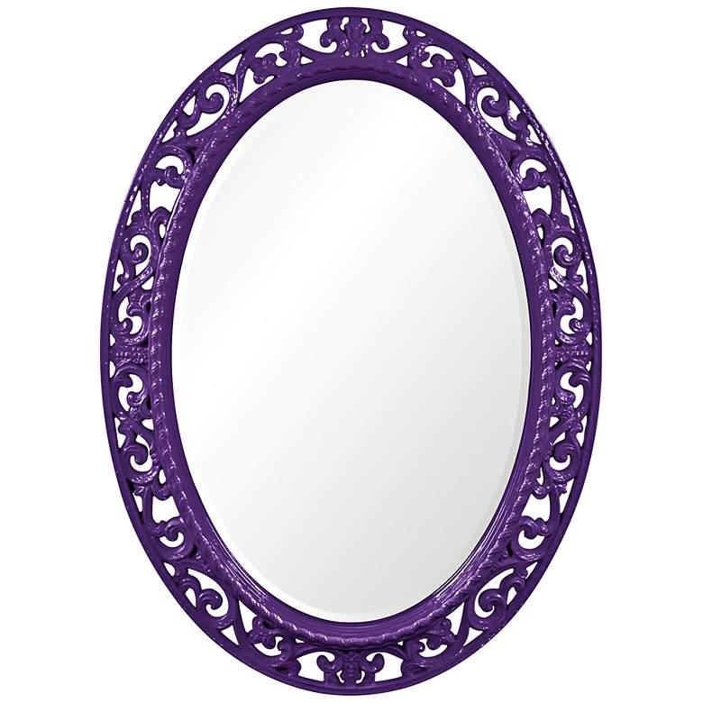 "Howard Elliott Suzanne Royal Purple 27"" x 37"" Wall Mirror"