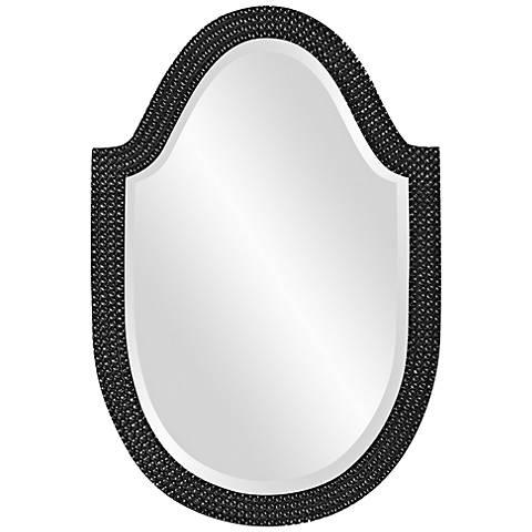"Howard Elliott Lancelot 21"" x 32"" Black Arched Wall Mirror"