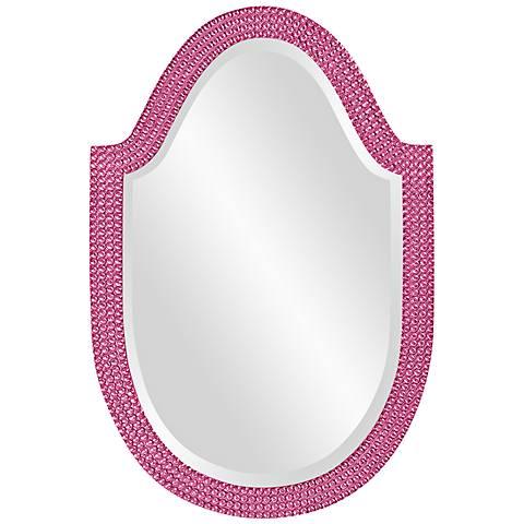 "Howard Elliott Lancelot 21"" x 32"" Hot Pink Wall Mirror"