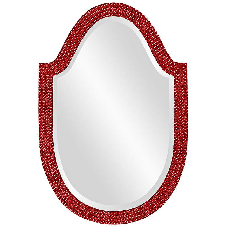 """Lancelot 21"""" x 32"""" Red Arched Wall Mirror"""