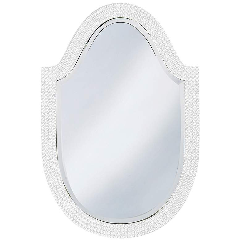 "Howard Elliott Lancelot White 21"" x 32"" Arched Wall Mirror"