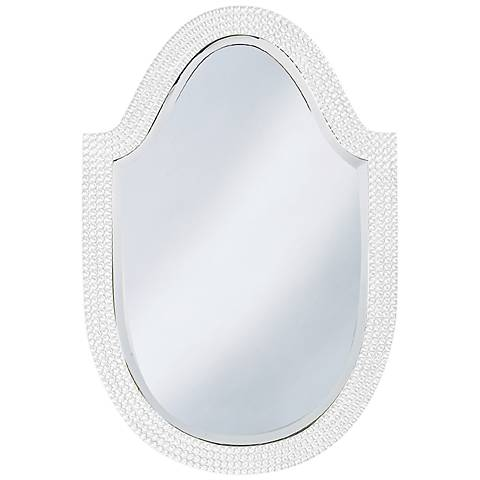 "Howard Elliott Lancelot 21"" x 32"" White Arched Wall Mirror"