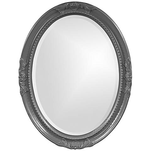 "Howard Elliott Queen Ann Charcoal Gray 25"" x 33"" Wall Mirror"