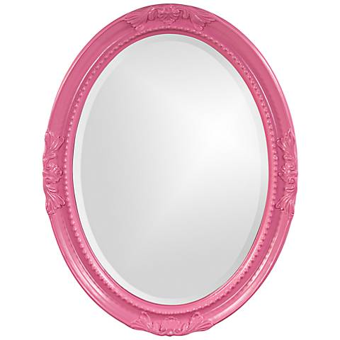 "Howard Elliott Queen Ann Hot Pink 25"" x 33"" Wall Mirror"