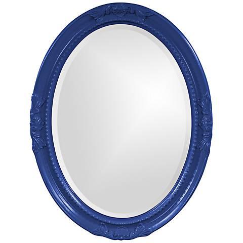 "Howard Elliott Queen Ann Royal Blue 25"" x 33"" Wall Mirror"
