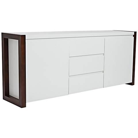Manon Dark Walnut and White Sideboard