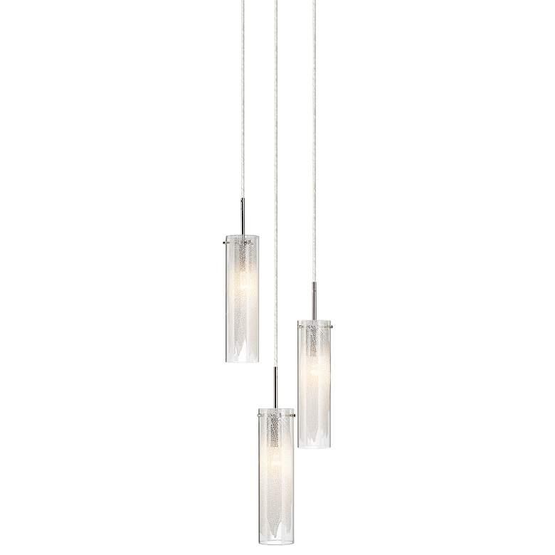 "Elan Krysalis 11"" Wide Chrome Multi Light Pendant"