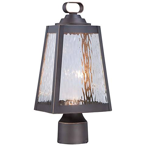 "Minka Talera 15"" High LED Bronze Outdoor Post Light"