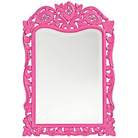 "Howard Elliott St. Agustine Hot Pink 20"" x 29"" Wall Mirror"