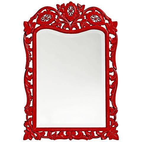 """Howard Elliott St. Agustine Red 20"""" x 29"""" Wall Mirror"""