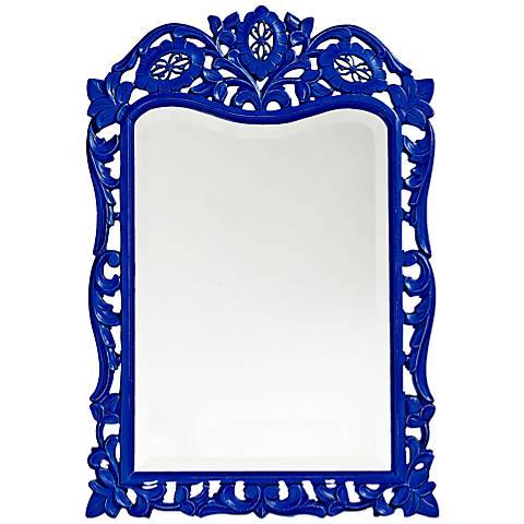 """Howard Elliott St. Agustine Royal Blue 20"""" x 29"""" Wall Mirror"""