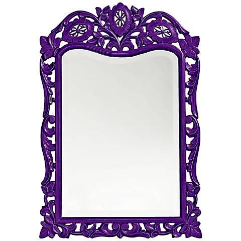 "Howard Elliott St. Agustine Royal Purple 20"" x 29"" Mirror"