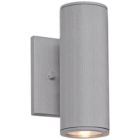 "Minka Skyline LED 7 3/4"" High Aluminum Outdoor Wall Light"