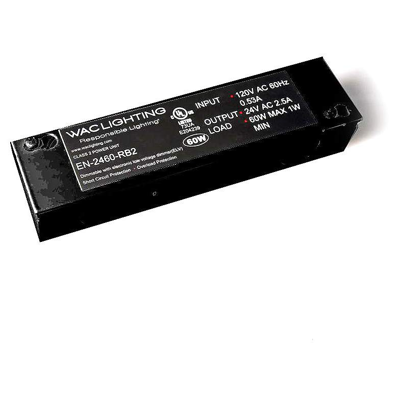 """InvisiLED 6.5""""W Black 60 Watt Remote Class 2 Transformer"""