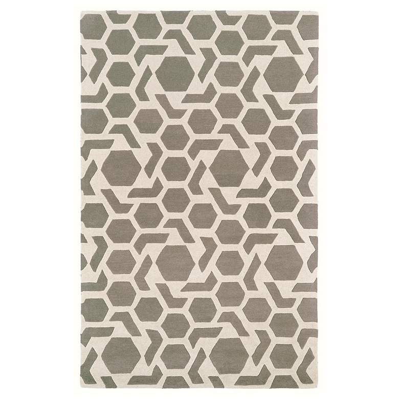 "Kaleen Revolution REV05-75 5'x7'9"" Gray Wool Area Rug"