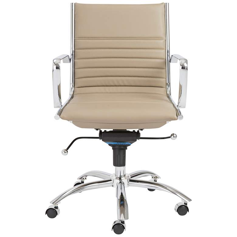 Dirk Taupe Leatherette Low Back Adjustable Office Chair