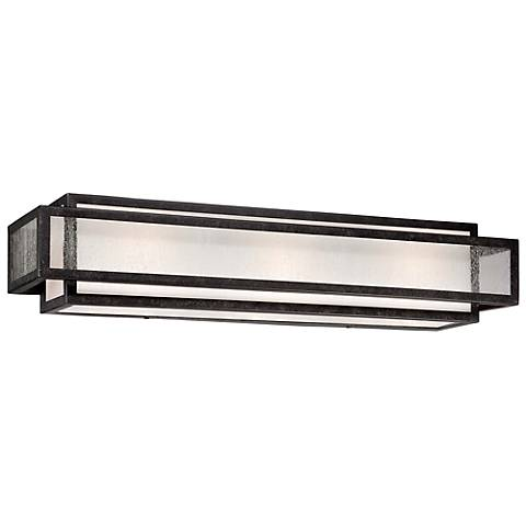 "Minka Camden Square 24"" Wide Charcoal Bath Light"