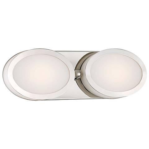 "Pearl 15 1/2"" Wide Polished Nickel LED Bath Light"