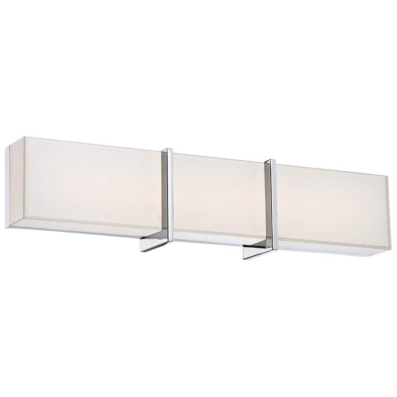 "Minka High Rise 24 1/4"" Wide LED Chrome Bath Light"