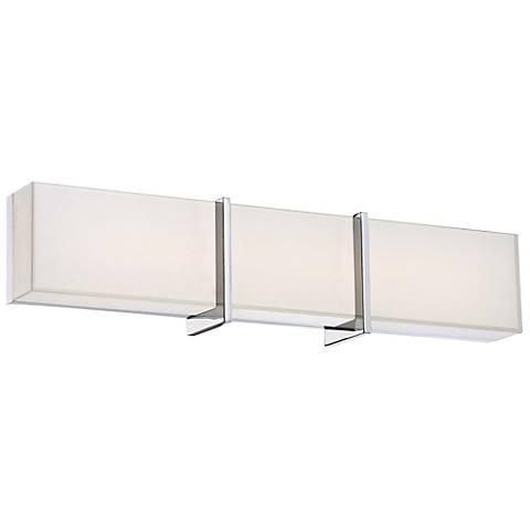 """Minka High Rise 24 1/4"""" Wide LED Chrome Bath Light"""