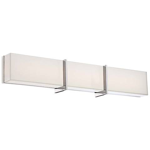 "High Rise 30"" Wide Chrome LED Bath Light"