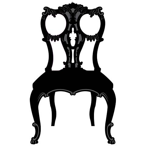 Victorian Chair Black and Gray Wall Decal