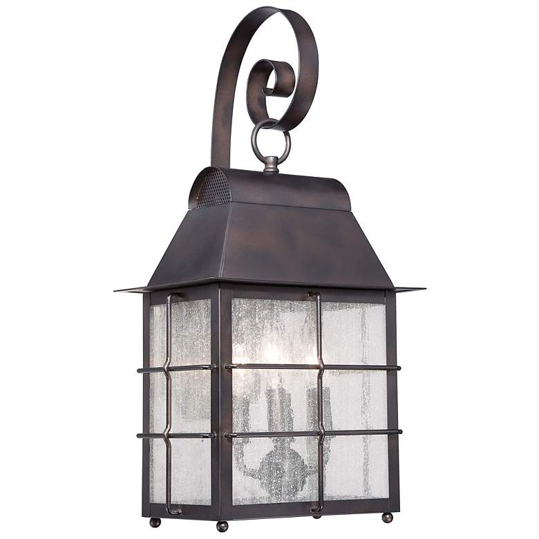 """Minka Willow Pointe 22"""" High Bronze Outdoor Wall Light"""