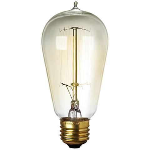 Amber 60 Watt Edison Style Medium Base Light Bulb