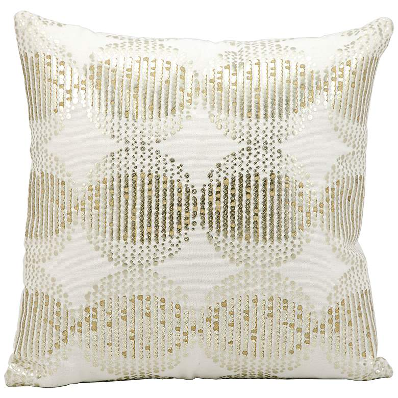 "Kathy Ireland Sunrise 16"" Square White Pattern Pillow"