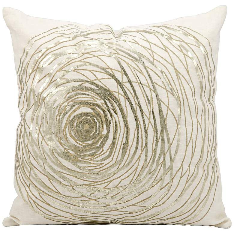 """Kathy Ireland Eternity 19"""" Square White Pillow"""
