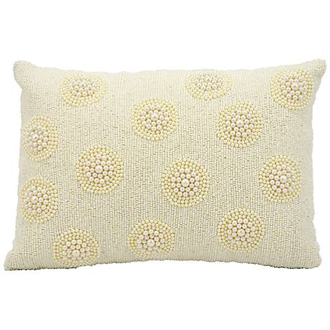 "Kathy Ireland Hijinks 10"" x 14"" Ivory Pillow"