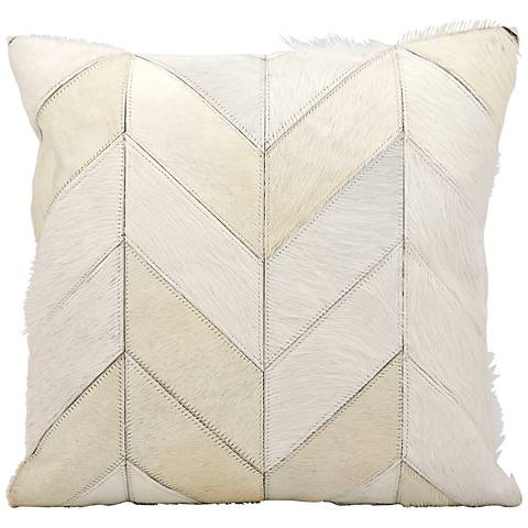 "Kathy Ireland Heritage 20"" Square White Pillow"