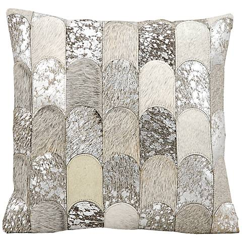 "Kathy Ireland Legacy 20"" Square Silver Gray Pillow"