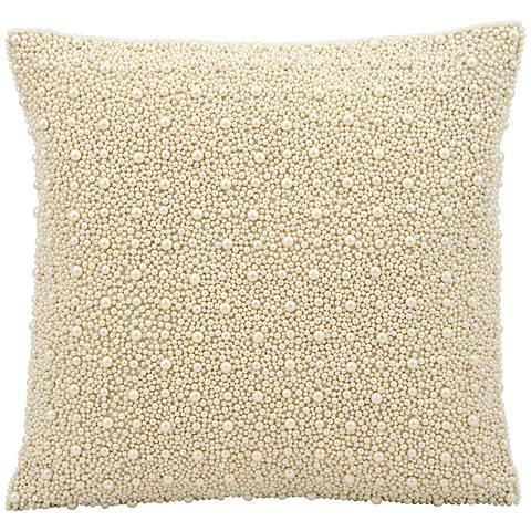 "Kathy Ireland Always 16"" Square Ivory Pillow"