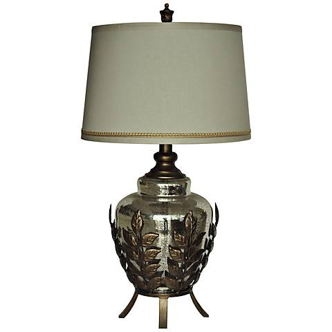 Crestview Collection Serendipity Toasted Silver Table Lamp