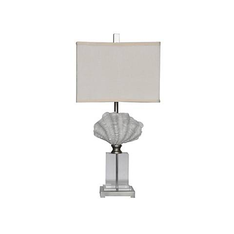 Crestview Collection Crystal Beach White Shell Table Lamp
