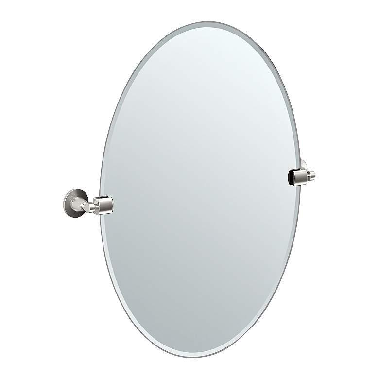 "Gatco Max Satin Nickel 23 1/2"" x 26 1/2"" Tilting Wall Mirror"