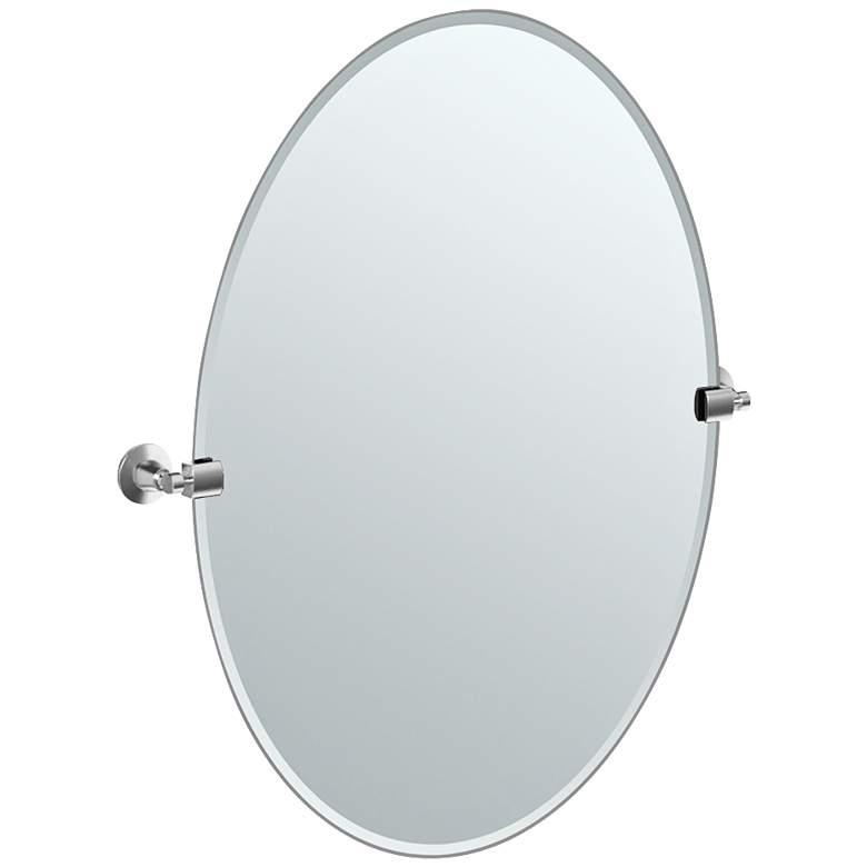 "Gatco Max Satin Nickel 23 1/2"" x 26 1/2"" Large Wall Mirror"