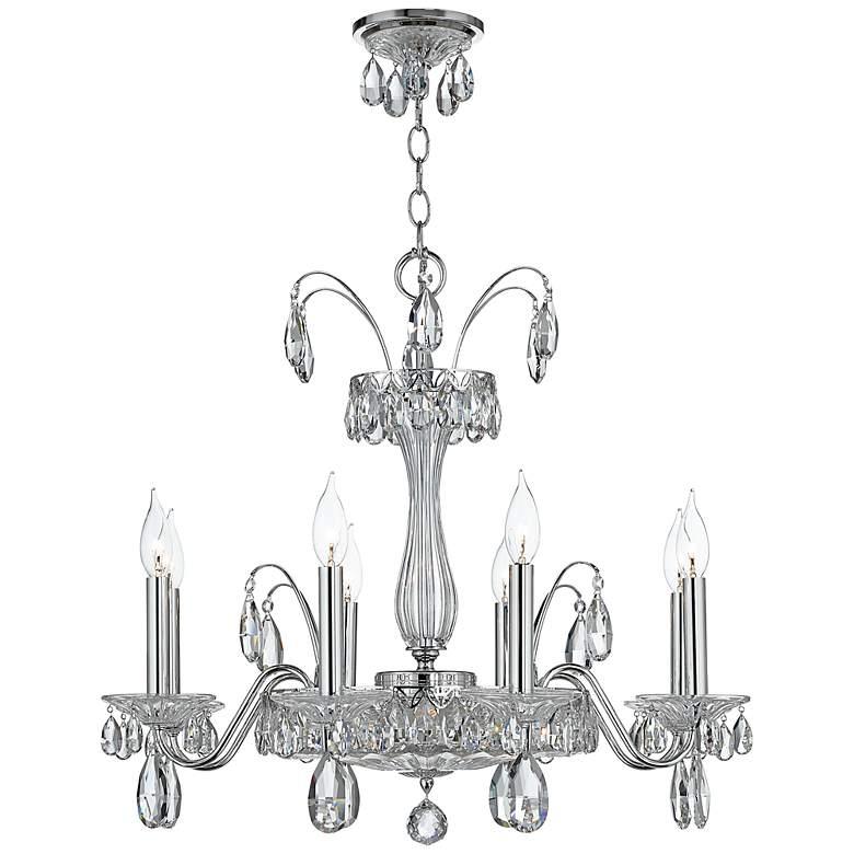 "Schonbek Fontana Luce 26"" Wide Silver Crystal Chandelier"