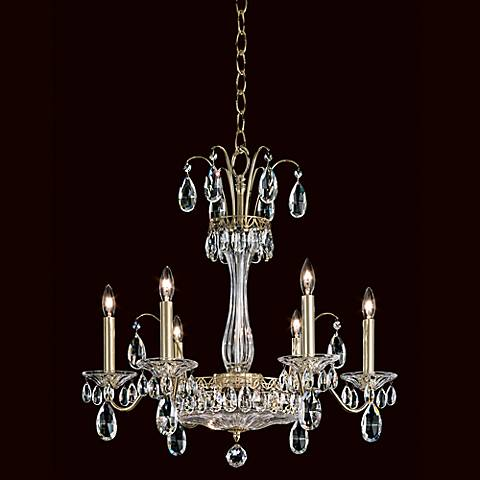 Schonbek new orleans collection 24 wide crystal chandelier 79381 schonbek fontana luce 24 wide gold crystal chandelier aloadofball Images