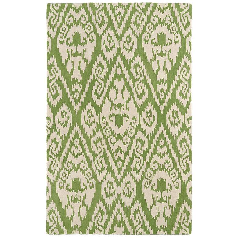"Kaleen Evolution EVL02-50 5'x7'9"" Green Wool Area Rug"