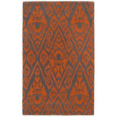 Kaleen Evolution EVL02-89 Orange Wool Area Rug