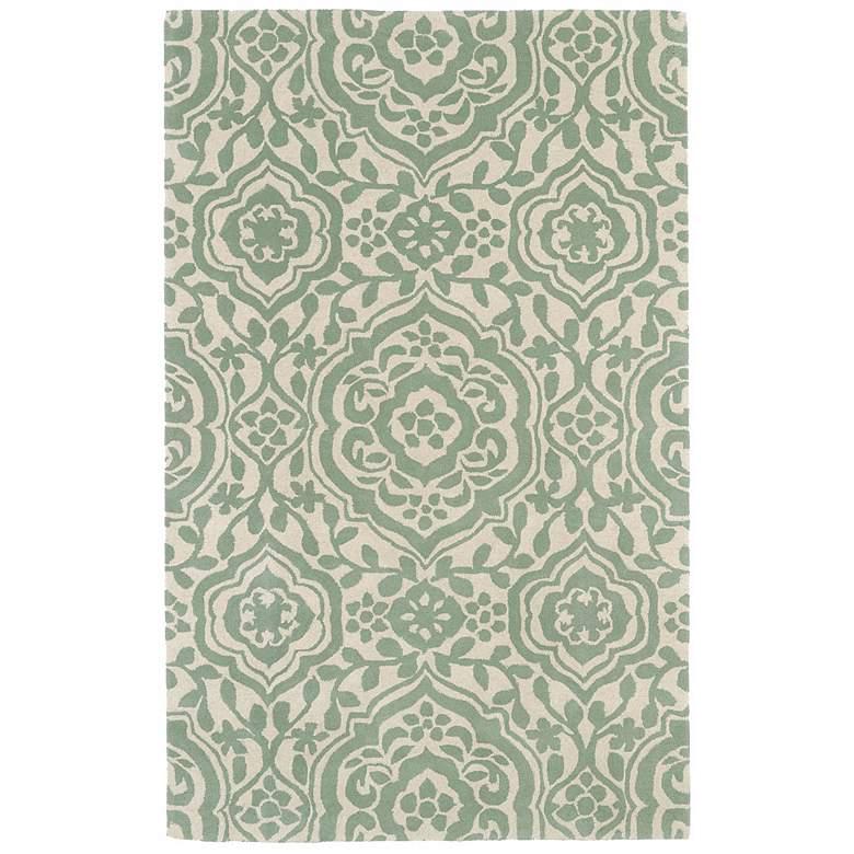 Kaleen Evolution EVL04-88 5'x7'9' Mint Wool Area Rug