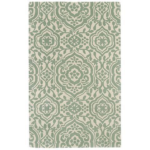 Kaleen Evolution EVL04-88 Mint Wool Area Rug