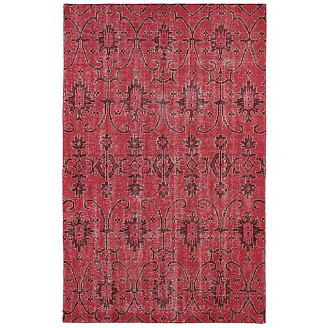 Kaleen Restoration RES01-25 Red Wool Area Rug