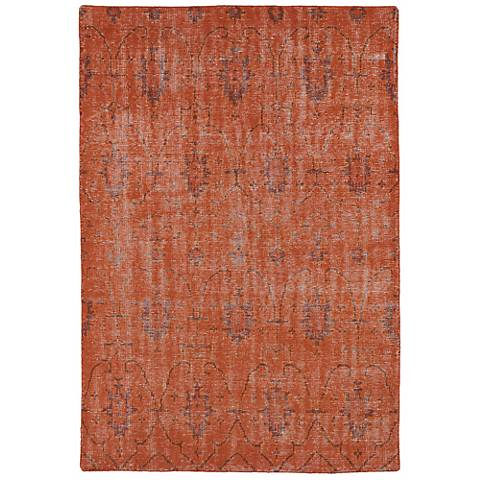 Kaleen Restoration RES01-31 Pumpkin Wool Area Rug